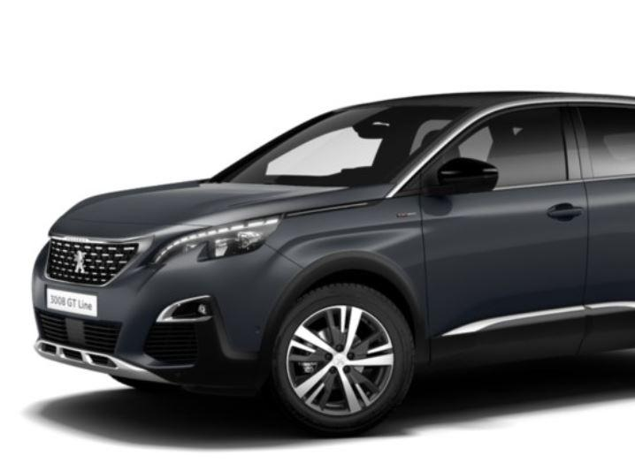 peugeot 3008 gt line 1 5 blue hdi 130cv eat8 auto direct import. Black Bedroom Furniture Sets. Home Design Ideas