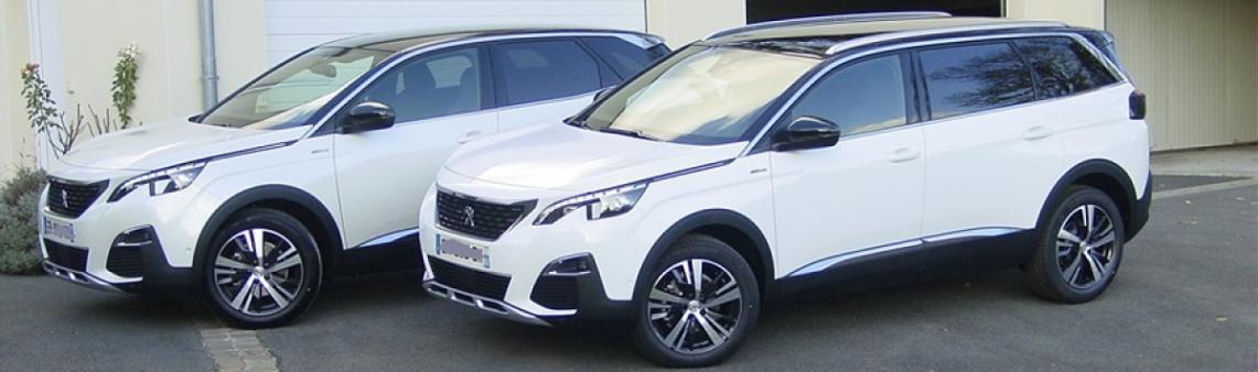 Peugeot 5008 et 3008